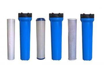 Dùng cột lọc nước đầu nguồn trong hệ thống lọc nước sạch cho gia đình